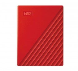 Western Digital WD 2TB External Hard Drive, Passport Portable Red with Automatic Backup, 256Bit AES Hardware Encryption & Software Protection