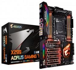 Motherboard GIGABYTE X299 Motherboard AORUS Gaming 7 (Intel LGA 2066 Core i9/ ATX/ 3 M.2/ Front USB 3.1 /ESS Sabre Audio /RGB Fusion/Dual LAN / Killer WIFI /3 Way SLI Motherboard)