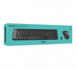 Logitech MK220 Wireless Keyboard and Mouse Combo Black